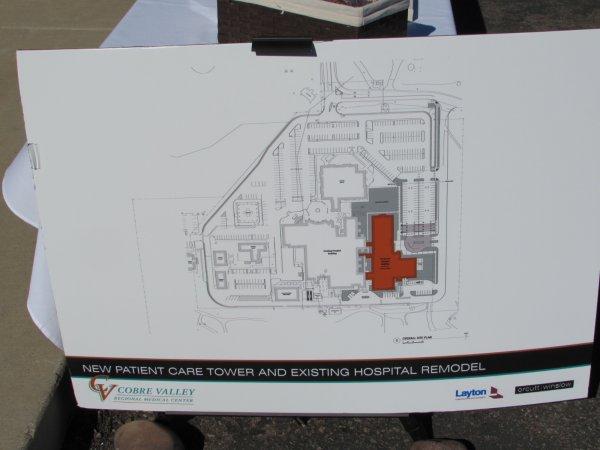 CVRMC expansion map. Photo Credit: Sean Cram.
