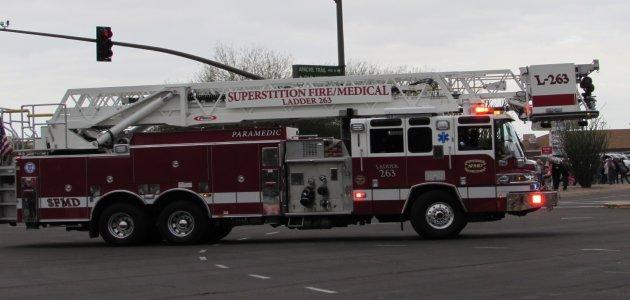 Superstition Fire/Medical Ladder 263.  Photo Credit: Sean Cram.