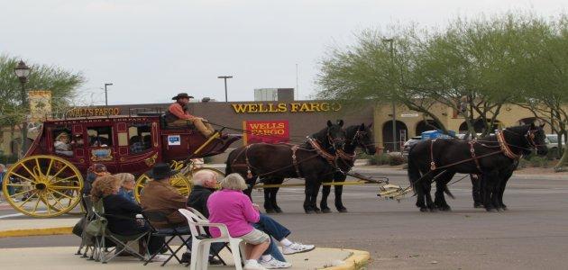 O-ho the Wells Fargo Wagon is a-comin' down the street... Photo Credit: Sean Cram.